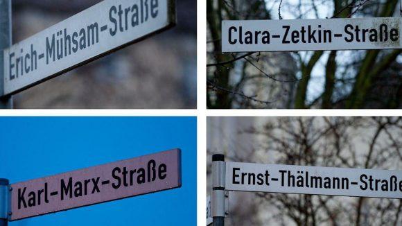 Auf den Straßenschildern Berlins dominieren eindeutig die Männernamen.