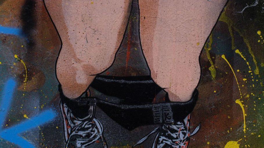 Nackte Beine und heruntergelassene Höschen gibt es in den verlassenen Örtlichkeiten am Mehringdamm nicht mehr zu sehen. Stattdessen: Street-Art.
