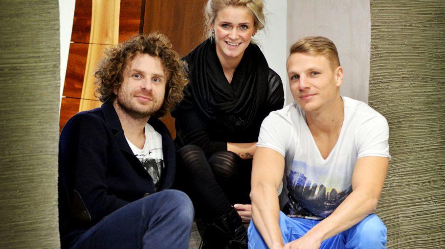 Das Team im Atelier in der Brunnenstraße: Christian Hechler, Marlen Amft (Mitte) und Alexej Warnecke (v.l.n.r.).