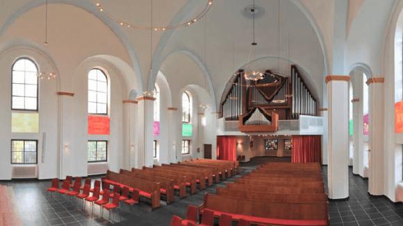 Umgestaltete Evangelische Markuskirche. Vom Architektur-und Stadtplanungsbüro Helmut von Bohr und Kay Fescharek.