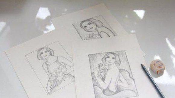 Skizzen von Tina Ruland.