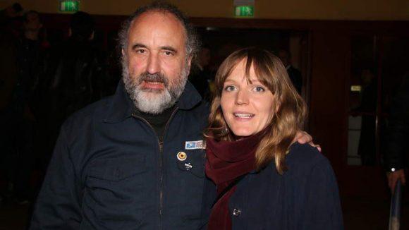 "Peter Rommel hat den neuen Andreas Dresen-Film ""Als wir träumten"" produziert. Neben ihm: Schauspielerin Annette Lober (""Beatrix"")."