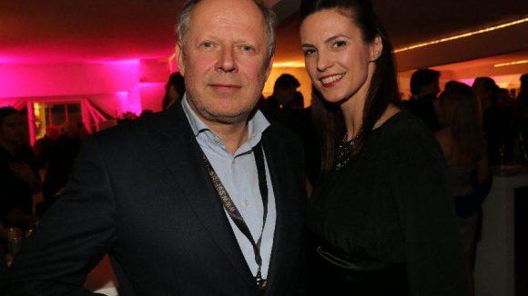 Tatort-Star Axel Milberg mit Miss Germany 2002 Katrin Wrobel.