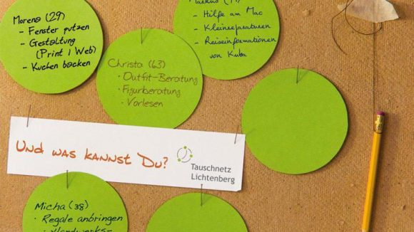 Das Tauschnetz Lichtenberg vermittelt als Internetbörse unterschiedliche ehrenamtliche Tätigkeiten für Bürger im Kiez.