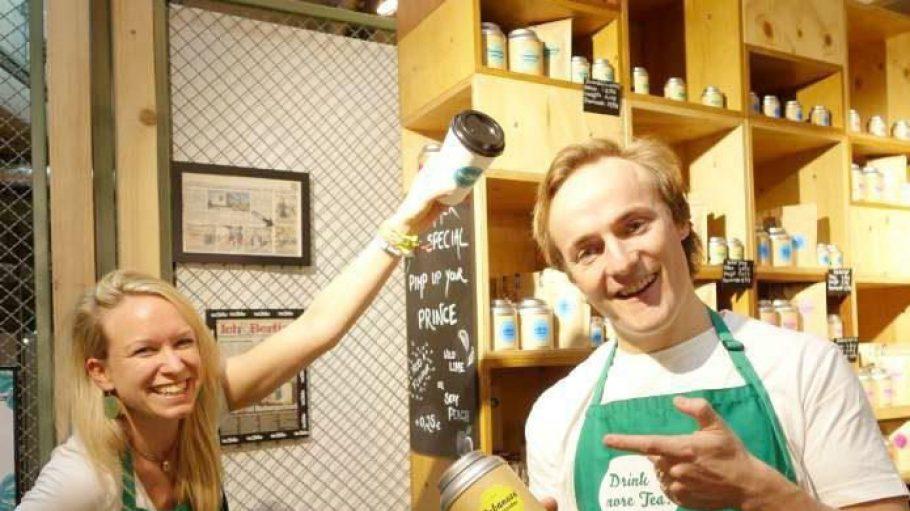Nina Schröder und Philip zu Löwenstein, die beiden TeaTales-Erfinder.