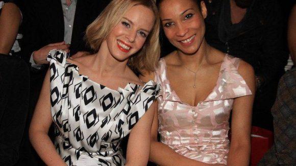 Tänzerin Isabel Edvardsson (links) und Moderatorin wie Designerin Annabelle Mandeng.