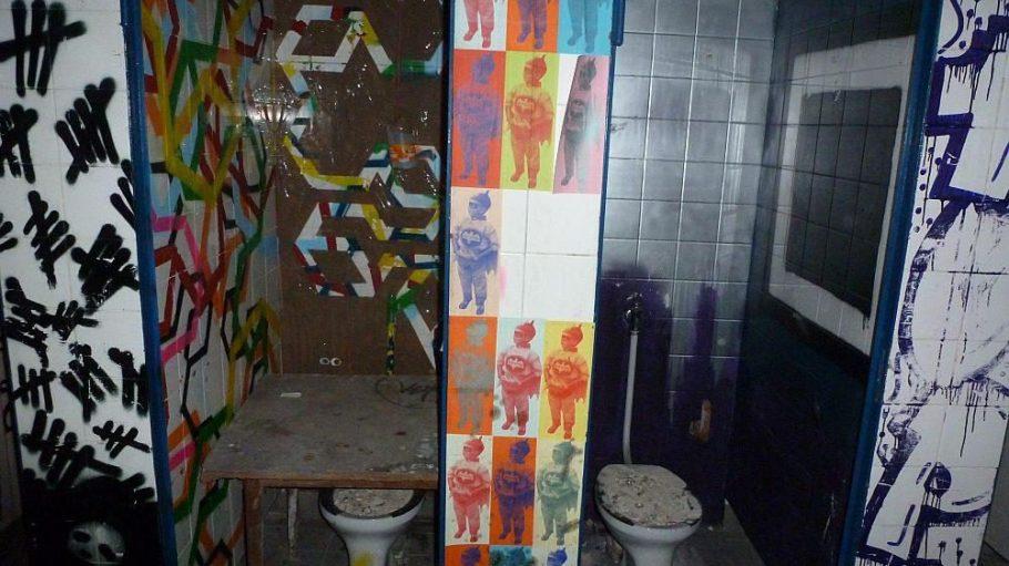 Rund fünf Meter unter der Oberfläche erstreckt sich auf etwa 100 Quadratmetern die einstige öffentliche Toilettenanlage am Mehringdamm.