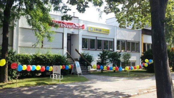 Neu gestaltet: Der Sawade-Werksverkauf auf dem Fabrikgelände am Standort Reinickendorf.