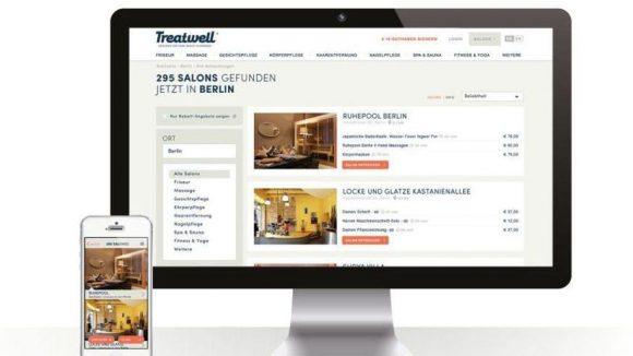 Treatwell gibt's online, aber auch als App.