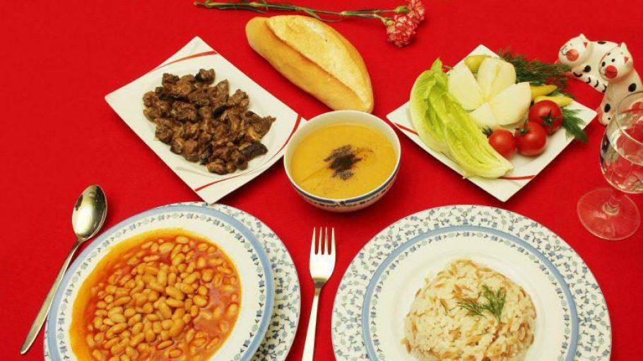 Ein leckeres türkisches Abendessen.