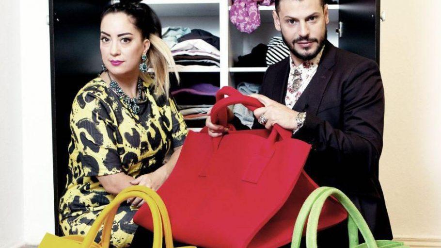 Miyabi Kawai und Manuel Cortez: Die Guten ins grüne Täschchen, die Schlechten ins rote.