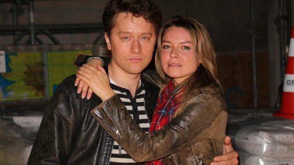 """Und hier nochmal Schauspielerin Karolina Lodyga mit dem in Polen geborenen Adrian Topol (""""Lauf Junge lauf""""), der ebenfalls mitspielt."""