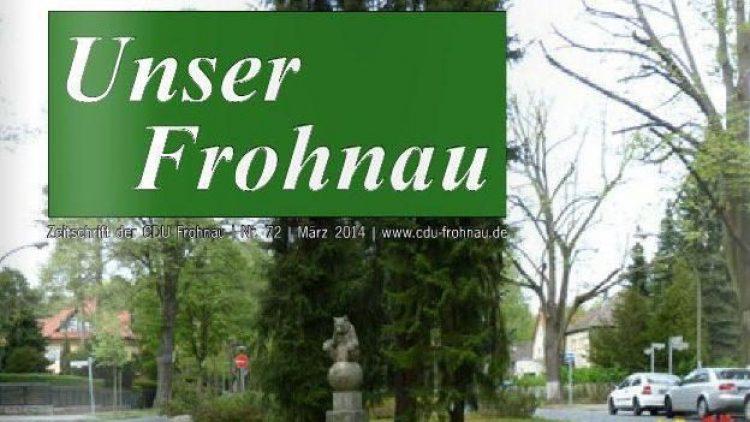 Ab sofort wird QIEZ mit News aus Frohnau versorgt.