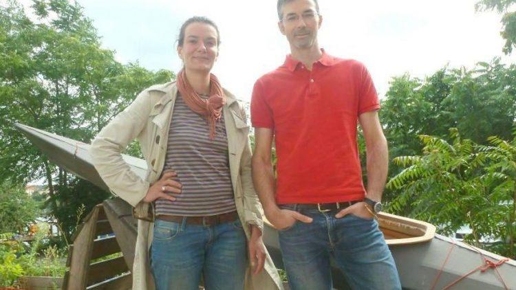 Elisabeth Schuster und Nikola Raspopovic machen in Oberschöneweide Großstädter zu Stadtindianern: Mit ihren Workshops für den Bau eigener Kanus und Kajaks.