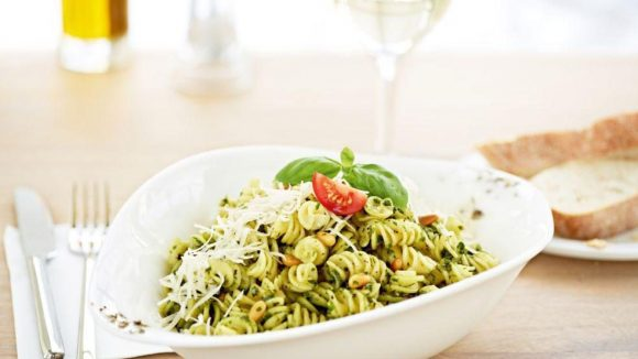 Ein Vapiano-Klassiker: Pasta Pesto.