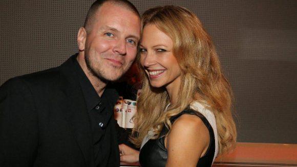 Glücklich wirkte auch Model Birte Glang mit ihrem Ehemann, DJ Moguai.