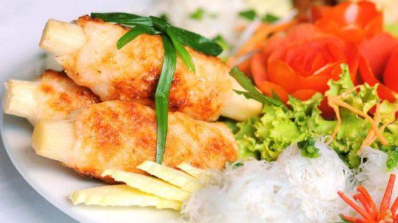 Vietnamesisches Essen: Shrimps auf Rohrzucker