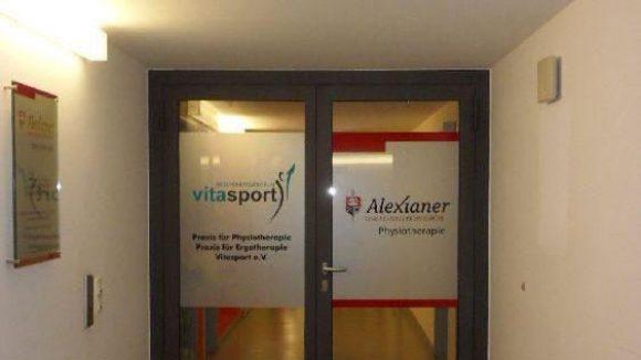 Vitasport: Hinter dieser Tür soll das Abschalten vom Alltag beginnen.