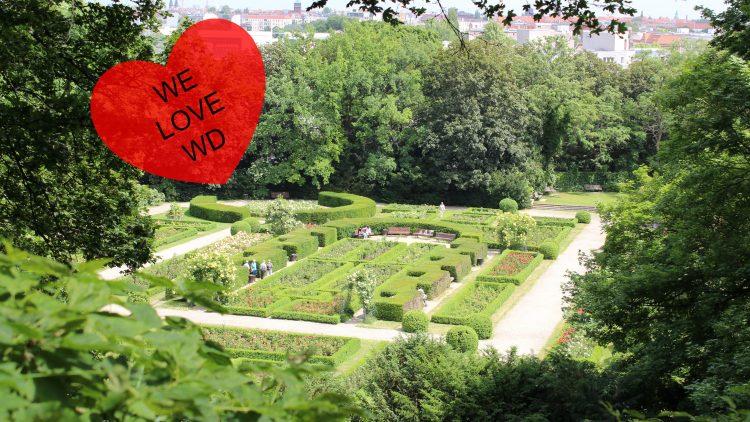 Ja, Berlin hat auch romantische Seiten: Der Rosengarten im Volkspark Humboldthain.