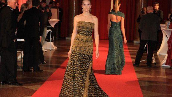 Das Highlight des Vorempfangs im Schloss Charlottenburg war die Modenschau der Berliner Haute Couture-Designerin Nanna Kuckuck.
