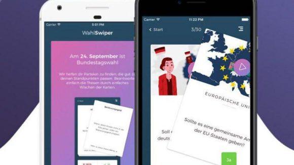 Der WahlSwiper verspricht Entscheidungshilfe für die Bundestagswahl am 24. September.