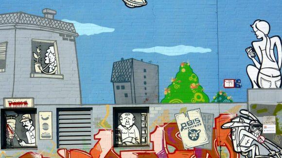 Berliner Streetart: Ein wenig wie mit einem Ufo gelandet kann man sich als Neu-Berliner in der Bundeshauptstadt schon mal vorkommen.