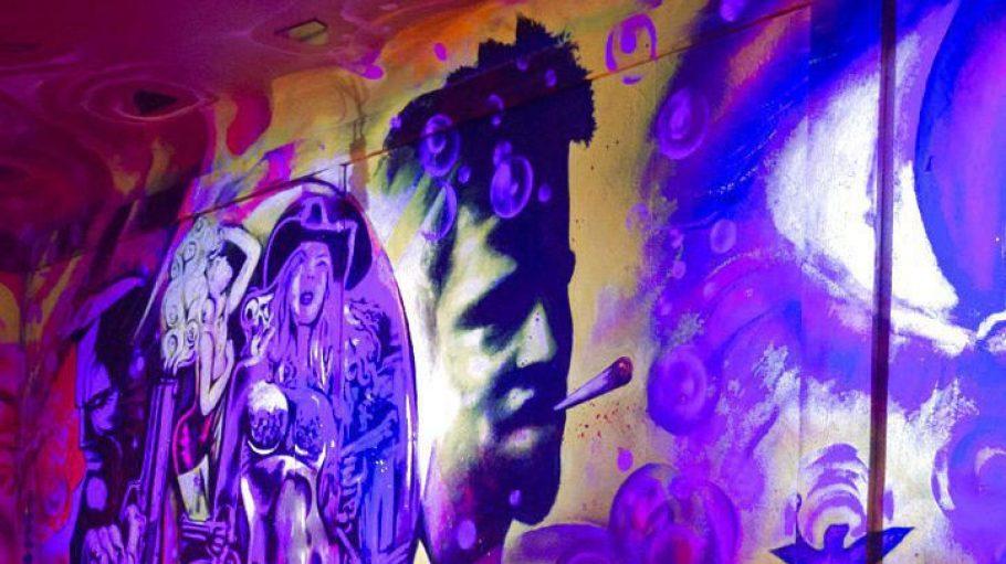In der neuen WG-Bar kann man Graffitis der Künstler Betty Dir und Neo PirArt bewundern.