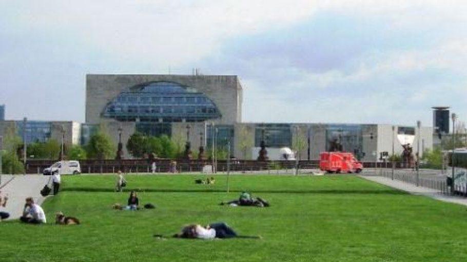 Der Washingtonplatz, im Frühjahr 2012.
