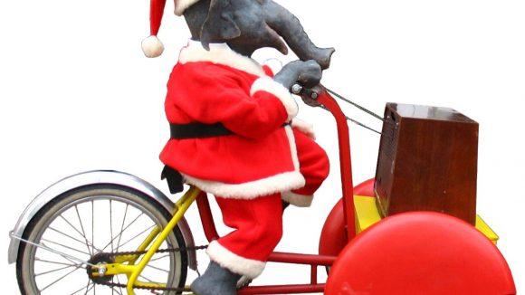 Auch ein radelnder Elefant wird auf dem Weihnachtsmarkt in Westend erwartet ...
