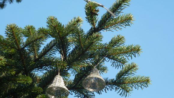 Dieser Schmuck ist richtig alt. Der kleine Vogel und die Glocken haben schon den zweiten Weltkrieg überlebt.