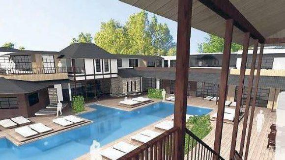 """Fertigstellung und Eröffnung des """"Vabali Spa"""" sind noch für 2012 geplant."""