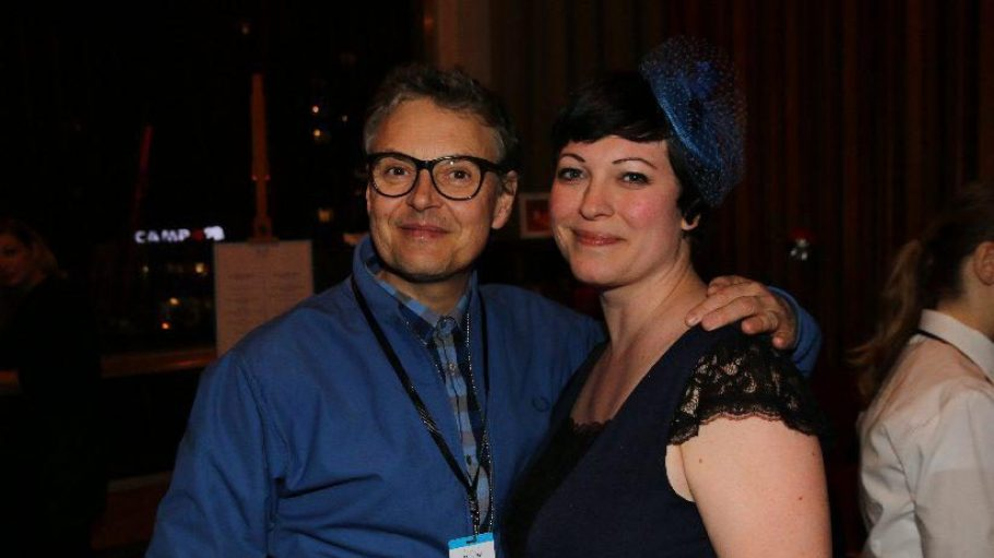 Zu den Gästen gehörten auch Rolfe und Managerin Uta Wittchen, sowie ...