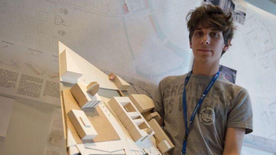 Der Gewinner des Wettbewerbs zur Gestaltung der Freiflächen am Humboldtforum: Alberto Brezigia, Student an der HU Dresden