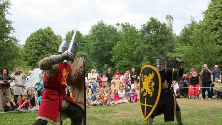 Am Wochenende liefern sich die Wikinger wieder wilde Kämpfe in Schildow - ein Mega-Spektakel.