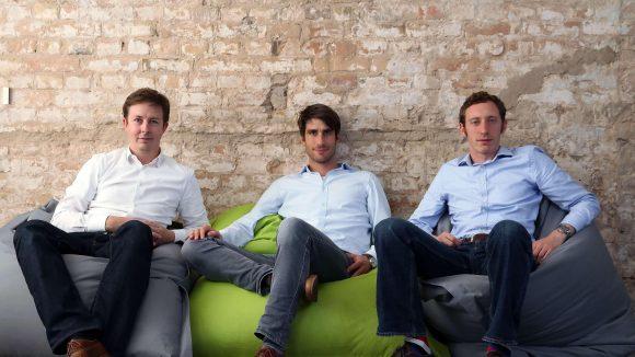 Aymon Delbridge, Philipp Götting und André Dieling (v.l.) wollen mit ihrer neuen Internetplattform Nachbarn besser vernetzen.