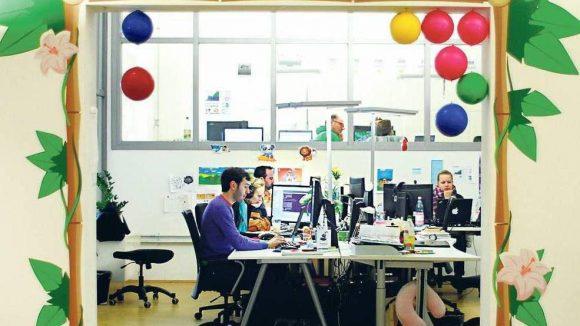 Wooga gehört zu den erfolgreichsten Berliner Startups. Inzwischen arbeiten hier 150 Mitarbeiter. 250 sollen es Ende des Jahres sein.