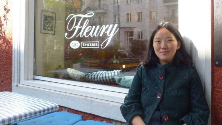 Auf einen Kaffee mit Yang Liu im Fleury.