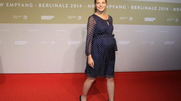 Zwei Babybäuche ließen sich auch sehen: Sängerin Yvonne Catterfeld ist schon im achten Monat schwanger ...