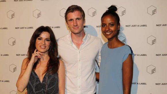 Mit Zalando-Chef David Schneider feierten im Kaufhaus Jandorf derweil Sara Nuru (rechts) und Natalia Avelon.