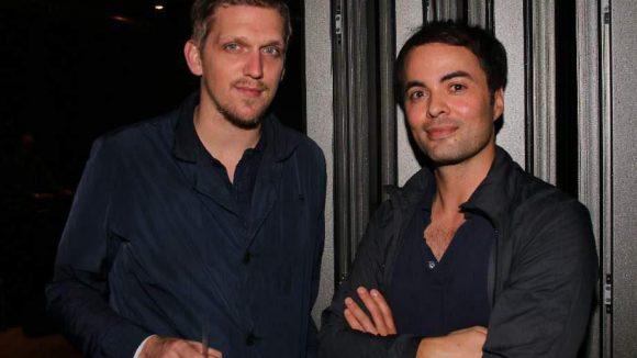 """Mit dabei waren auch """"Oh Boy""""-Regisseur Jan-Ole Gerster (links) und Nikolai Kinski ..."""