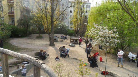 Auf dem 6000 Quadratmetern großen Ziegenhof gibt es viel Platz zum Spielen und Toben ...