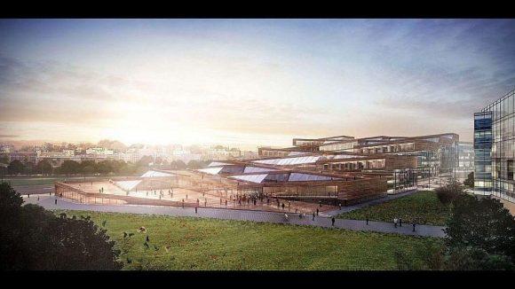 Die Jury ist begeistert von der faszinierenden und spektakulären Weise, in der dieser Entwurf die öffentlich zugänglichen Bereiche der Bibliothek mit der Weite der Parklandschaft verwebt.