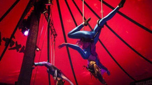 Beim Juxirkus kannst du dich in Trapez, Akrobatik, Trampolin oder Kugellaufen probieren.