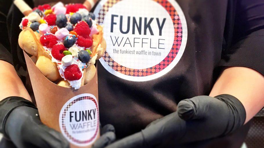 The Funkiest Waffle in Town – Funky Waffle bekommst du bei Summer in the City am Breitscheidplatz.