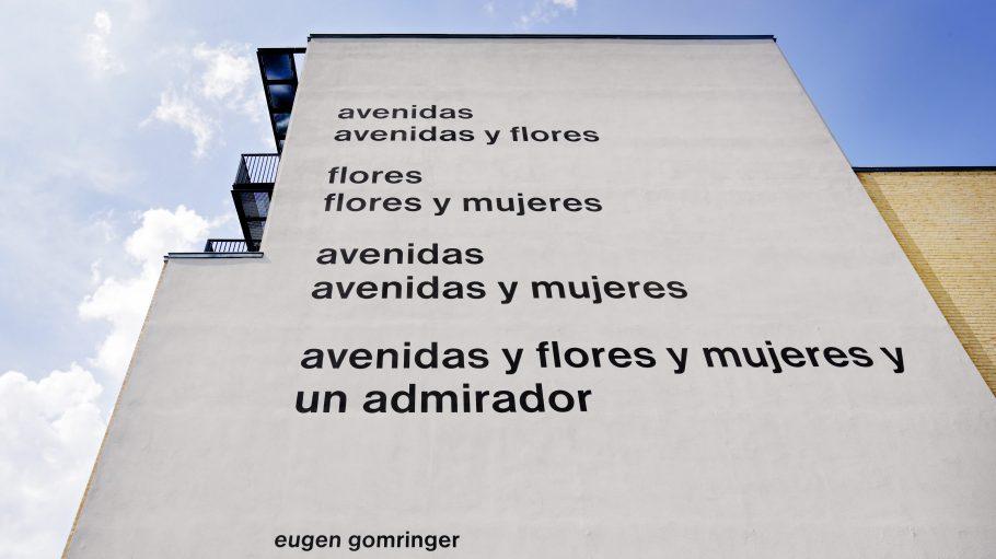 Das Gedicht von Eugen Gomringer an der Fassade der Alice Salomon Hochschule in Berlin soll tatsächlich entfernt werden.