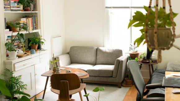 Grüne Zimmerpflanzen, schöne Holzmöbel und viel Licht: Der Urban Jungle-Trend bleibt uns auch 2018 erhalten.