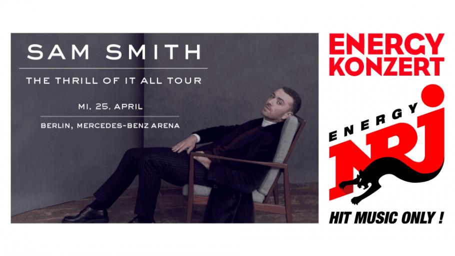 Mit ENERGY erlebst du Sam Smith live in der Mercedes-Benz-Arena!