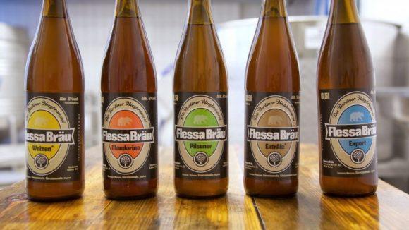5 der 6 Craft-Bier-Sorten der Flessa-Brauerei - natürlich mit Berliner Bär! ©Anne Winkler