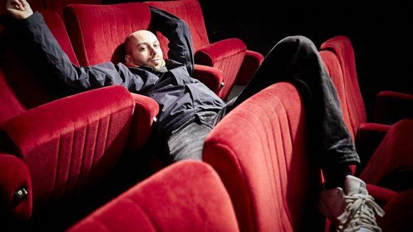 Abhängen im Wolf Kino, also wortwörtlich... ©Ralph Penno