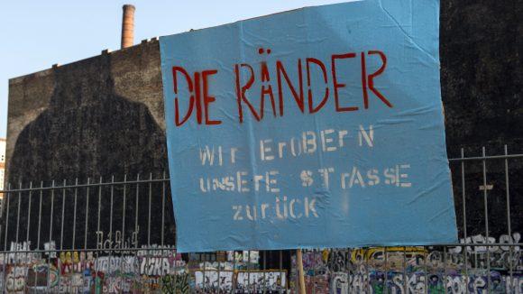 Aktion gegen die Gentrifizierung in Berlin bei der Cuvry-Brache. ©picture alliance / dpa